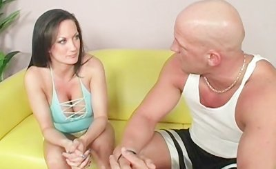 Lusty cougar licking a dude's butt