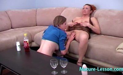 Mature mom enjoys fresh babe.