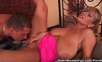 Mature Mom With Massive Tits Gets A Facial