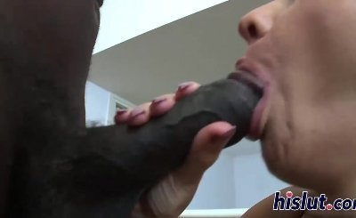 Massive boobs bounce on a big black cock