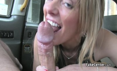 Hot busty blonde milf in lingerie got facial in taxi