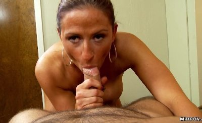 MILF POV amateur swinger does first porn