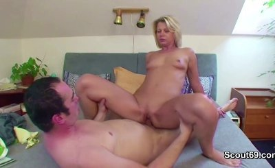Mother and Step-Son Tabu Fucking when Dad away