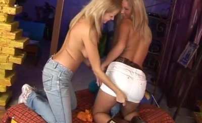 Moms teach teens blonde brandi love Two delicious towheaded lesbians