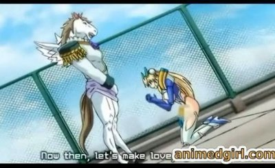 Monster horse anime hard poked wet pussy hentai warrior girl