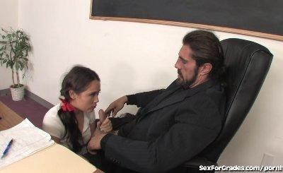 Naughty Schoolgirl Fucking Her Professor