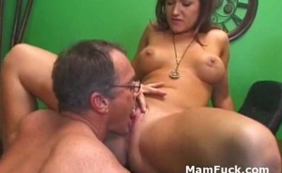 Old dude doggy fucks booty mature babe as hot daughter watches