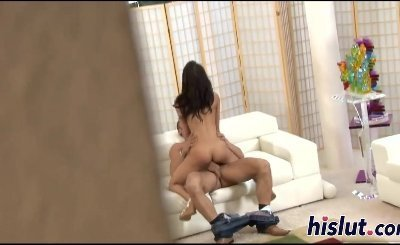 Petite Amia Miley has her tight snatch plowed and creampied