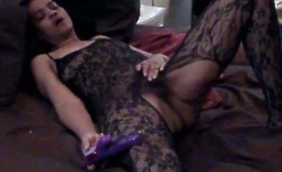 Pherrie Tayl Cums True Hot 46Y.O. Ebony MILF Wife Enjoys Toy & Hubby To