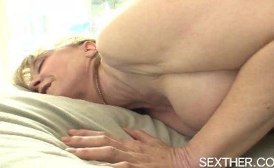 Pornstar Nina Hartley Sucks Cock and Nailed Hard