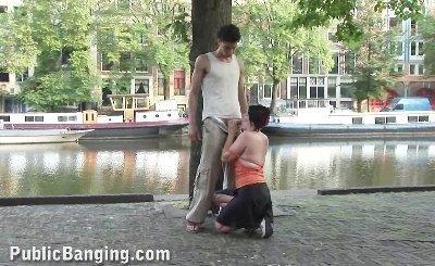 Public blowjob bj in public street