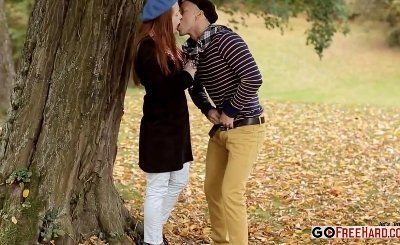 Redhead Teen Denisa Heaven Having Erotic Sex at the Outdoor