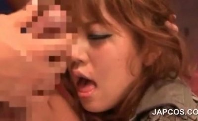 Rough oral sex with asian redhead teen beauty