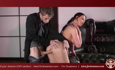 Sexy Aletta being punished in the ass by hot-blooded lover -