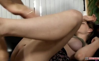 Sisyastaya by a pussy hairy woman breathing heavily after orgasm