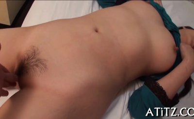 sweet asian with perky tits excites dude with wet blowjob