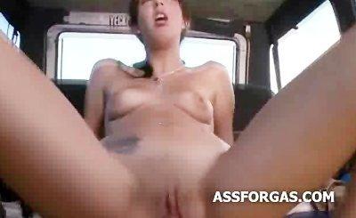 Ugly kim kardashian clone riding cock