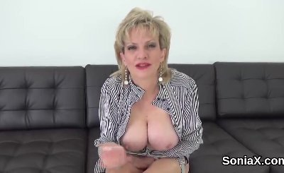 Unfaithful english mature gill ellis showcases her large melons