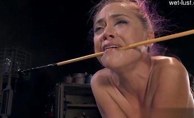 Young slut   crying anal